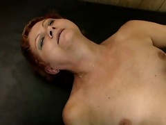 impure golden-haired housewive acquires her snatch