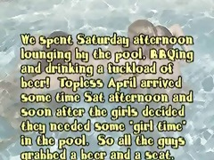 pool joy with oasis, jamie, &; april