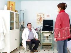 unpretty older wife at pervy gyno doctor