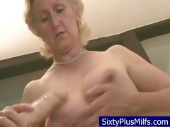 granny fucking with her recent toy cock