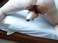 korean wifes white stocking and sex tool