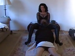 slaver wife makes him worship her pussy