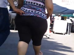 candid large asses selection - slow motion 5