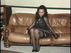 big tit mama undresses and rides a sex-toy