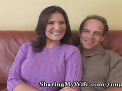 sissy hubby has sexy wife