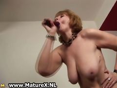 old undressed housewife is engulfing large part5