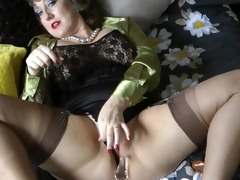 cum lover in seamed nylons