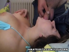 bulky amateur wife sucks and bonks with spunk
