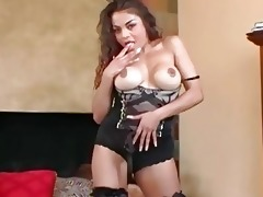 breasty mother i teases in nylons a brassiere and