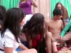 cfnm ladies dominate over the stripper