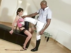 older stocking brit lady sonia interracial