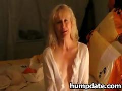 golden-haired older masturbating for her spouse