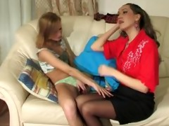 stepdaughter seduces stepmom