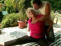 lustful granny fucking with her tutor