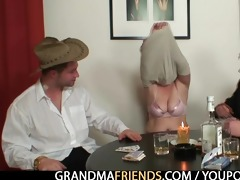 granny plays poker then acquires double dicked