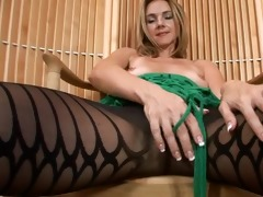 milfy pantyhose disrobe and toying
