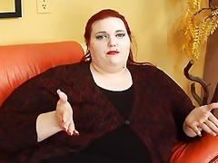obese redhead momma with tattooes and piercings