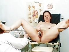 unpretty older wife at pervy gyno doctorhttpww