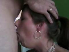 good wife deepthroats and swallows the full load !