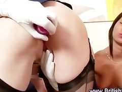 older british lesbians in nylon nylons fingering
