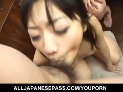 asian cougar receives face screwed unfathomable