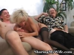 aged pair in 8some sex game