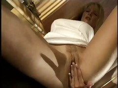 older golden-haired acquires concupiscent with