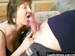 non-professional oral-sex and jizz flow