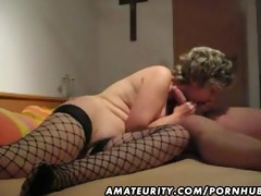 older and breasty dilettante wife blow job with