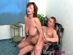 natural granny drilled by youthful hunk