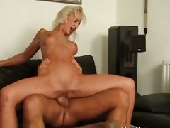 sexy golden-haired mommy with round love melons