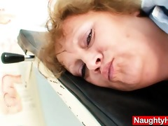 obese old nurse mamma acquires wicked in gyn