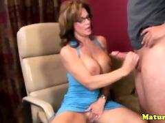 lascivious breasty older tugjob mother i jerking