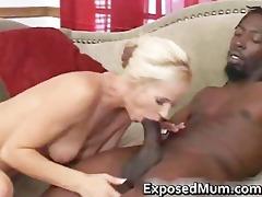 non-professional mother slamming on a big thug