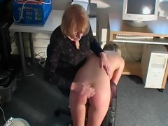 messy blond wench bonks her slit whilst getting