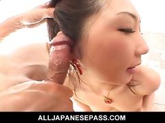 hatsumi kudo is one talented pecker sucker