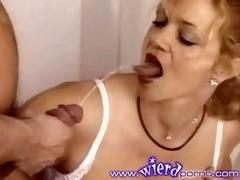 pissing granny