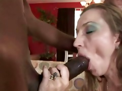 brunette hair milf having interracial sex