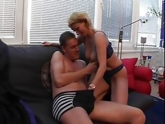 blond aged chick poles butt