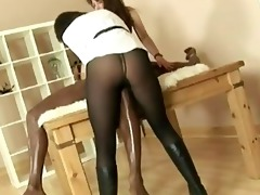 aged stocking brit lady sonia interracial