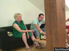 lad bangs his mother in law whilst wife away