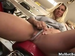 devon lee is a blond secretary at an upholstery s