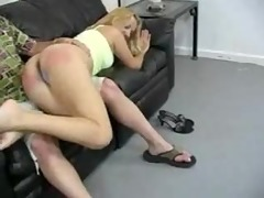 blond mother i getting her ass spanked very hard