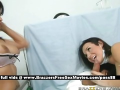 two mature breasty brunette hair nurses in