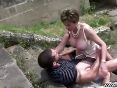 sex on stairs with horny cheating wife