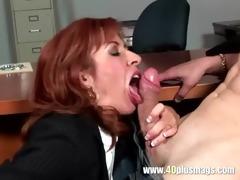 frustrated mature enjoys juvenile dick