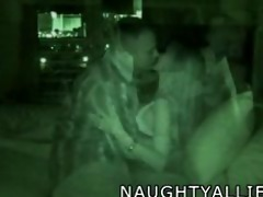 foursome captured on night vision web camera